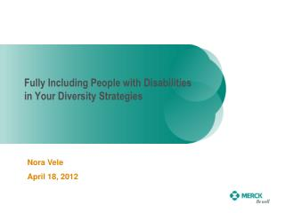 Fully Including People with Disabilities in Your Diversity Strategies
