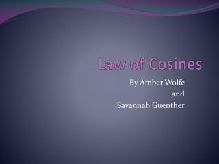 Law of Cosines