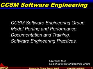 CCSM Software Engineering