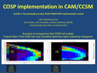 COSP implementation in CAM/CCSM