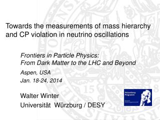 Towards the measurements of mass hierarchy and CP violation in neutrino oscillations
