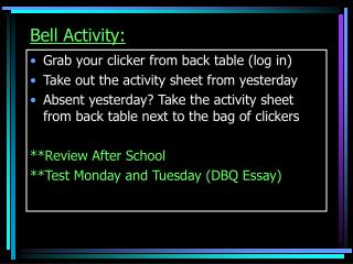 Bell Activity: