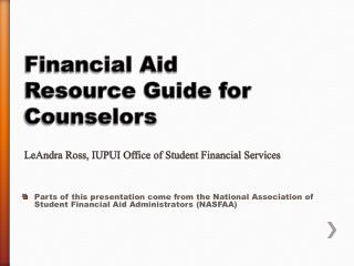 Financial Aid Basics & New Regulations
