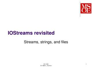 IOStreams revisited