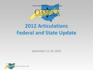 2012 Articulations Federal and State Update