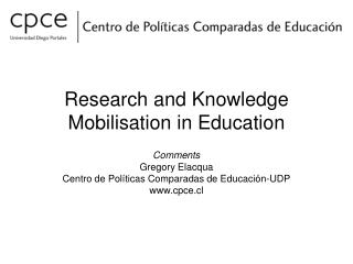 Research and Knowledge Mobilisation in Education