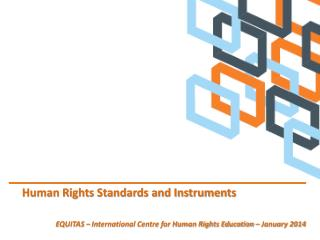 Human Rights Standards and Instruments
