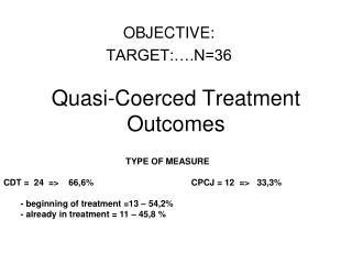Quasi-Coerced Treatment Outcomes