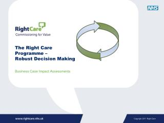 The Right Care  Programme – Robust Decision Making