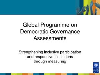 Global Programme on Democratic Governance Assessments