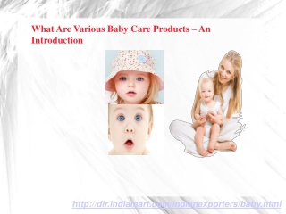 What Are Important Baby Care Products