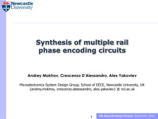 Synthesis of multiple rail phase encoding circuits