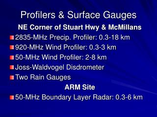 Profilers & Surface Gauges