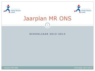 Jaarplan  MR ONS