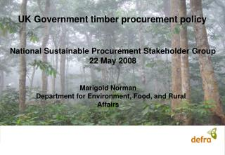UK Government timber procurement policy