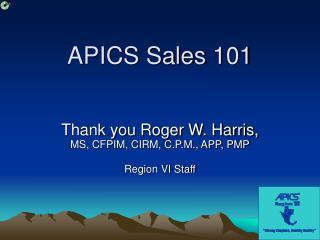 APICS Sales 101