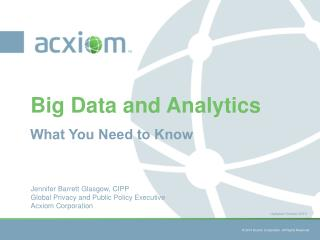 Big Data and Analytics