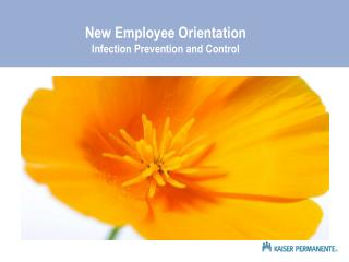 New Employee Orientation Infection Prevention and Control