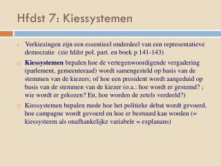 Hfdst 7: Kiessystemen