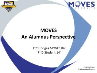 MOVES An Alumnus Perspective