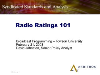 Radio Ratings 101