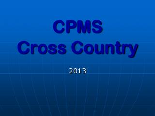 CPMS Cross Country