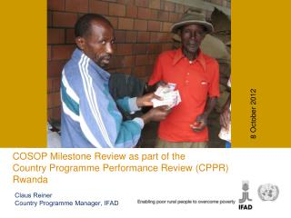 COSOP Milestone Review as part of the  Country Programme Performance Review (CPPR) Rwanda
