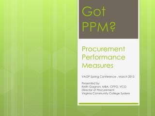Procurement Performance Measures