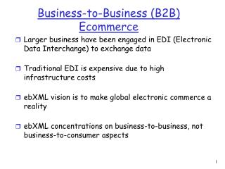 Business-to-Business (B2B) Ecommerce