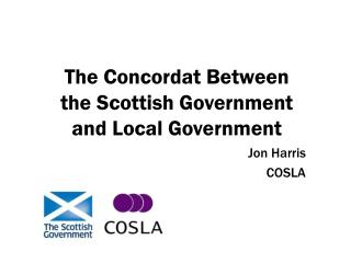 The Concordat Between the Scottish Government and Local Government