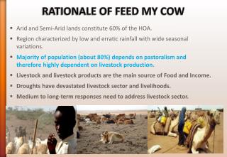 RATIONALE OF FEED MY COW
