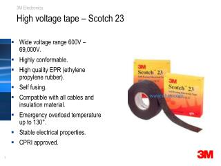 High voltage tape – Scotch 23