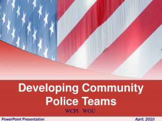 Developing Community Police Teams