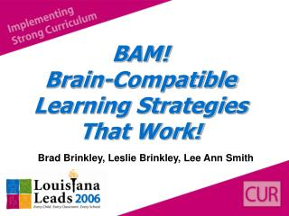 BAM! Brain-Compatible Learning Strategies That Work!
