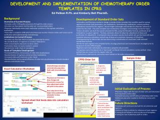 DEVELOPMENT AND IMPLEMENTATION OF CHEMOTHERAPY ORDER TEMPLATES IN CPRS