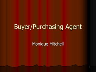Buyer/Purchasing Agent