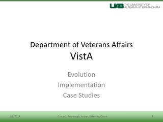 Department of Veterans Affairs VistA