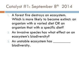Agenda: Water and Nitrogen Cycle