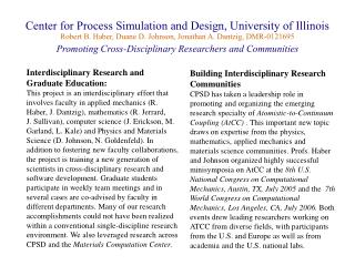 Interdisciplinary Research and  Graduate Education: