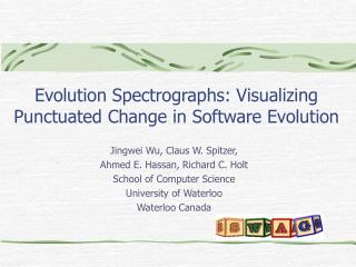Evolution Spectrographs: Visualizing Punctuated Change in Software Evolution