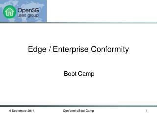 Edge / Enterprise Conformity