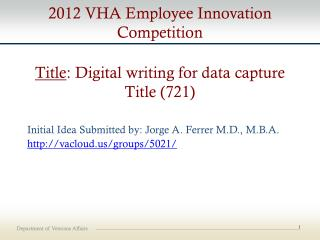 Title : Digital writing for data capture  Title (721)