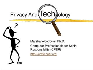 Privacy And  Tech nology