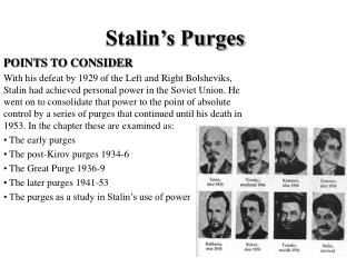Stalin's Purges