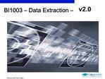 BI1003   Data Extraction   v2.0