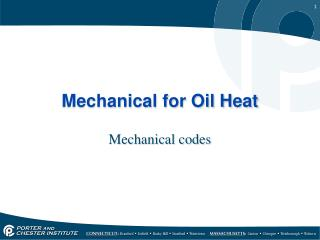 Mechanical for Oil Heat