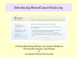 Introducing BreastCancerTrials