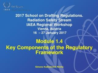 Module 1.4 Key Components of the Regulatory Framework Simone Kodlulovich Renha