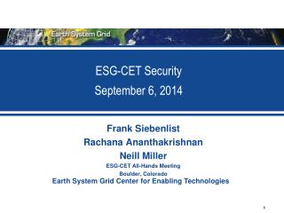 ESG-CET Security September 6, 2014
