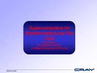 Cray-NCI Announcement